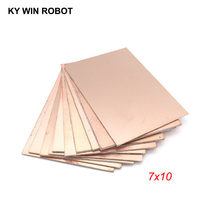 5 pcs FR4 PCB Double Side Copper Clad plate DIY PCB Kit Laminate Circuit Board 7x10cm(China)