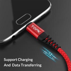 Image 4 - TOPK Hallo Zug Micro USB Kabel Nylon Geflecht Datenkabel Handy Kabel für Samsung Galaxy S7 rand S6 xiaomi Redmi Note 5