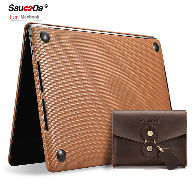 case For macbook pro 13 inch Laptop cover Woven Pattern genuine leather Case for macbook pro13 laptop Sleeve with mouse pouch jisoncase laptop sleeve case for macbook air 13 12 11 case genuine leather laptop bag unisex pouch for macbook pro 13 inch cover