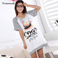 Nightgown For Women Summer cotton short-sleeve sleepwear lounge sleep one-piece dress plus size nightdress