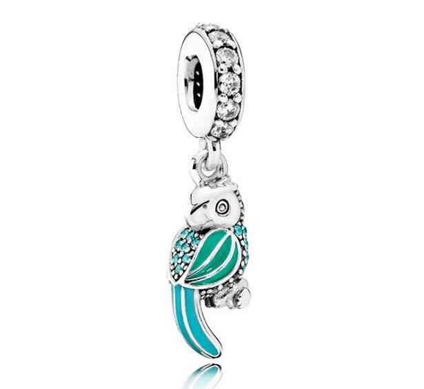 Btuamb European Maxi Enamel Cute Rabbit Crystal Flower Love Heart Beads Fit Pandora Bracelets Women Making Jewelry Handmade Gift