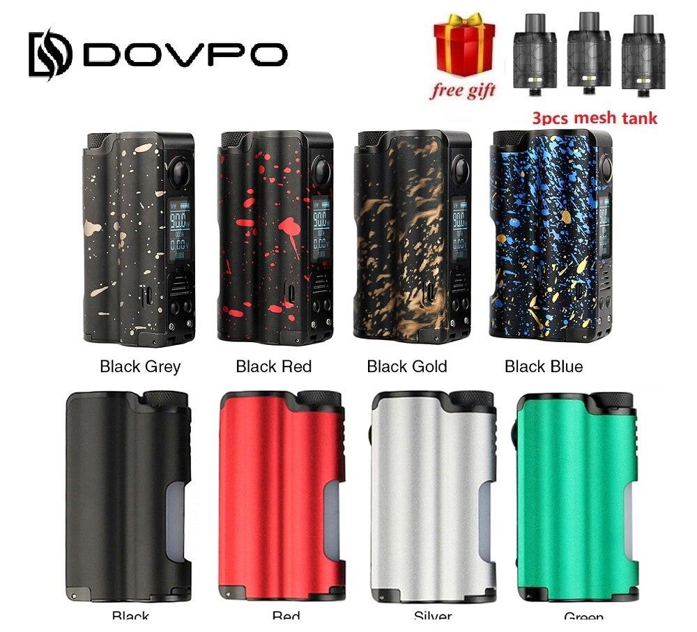 Cadeau! Original 90 W DOVPO Topside TC Squonk MOD avec 10 ml bouteille alimenté par 21700/18650 batterie Vape boîte MOD VS Rage Mod/glisser 2