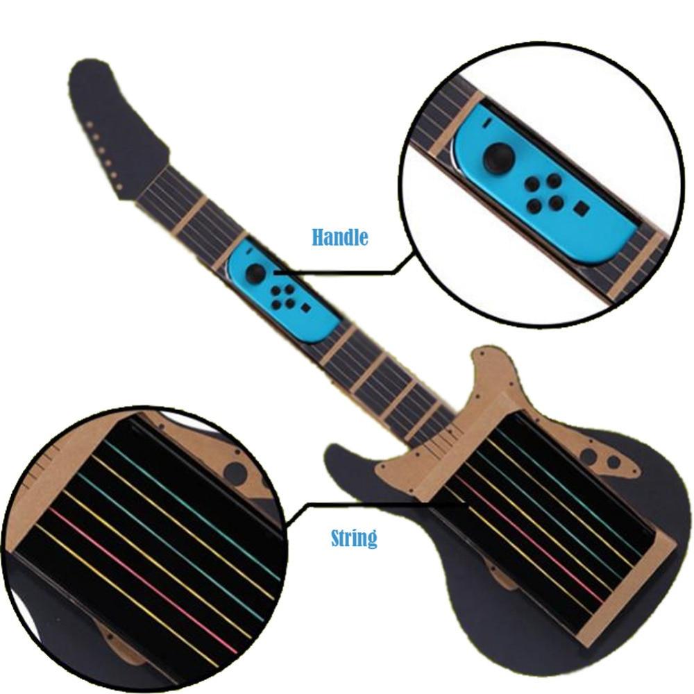 educational toys cardboard guitar accessories diy guitar kit for nintendo switch children 39 s. Black Bedroom Furniture Sets. Home Design Ideas