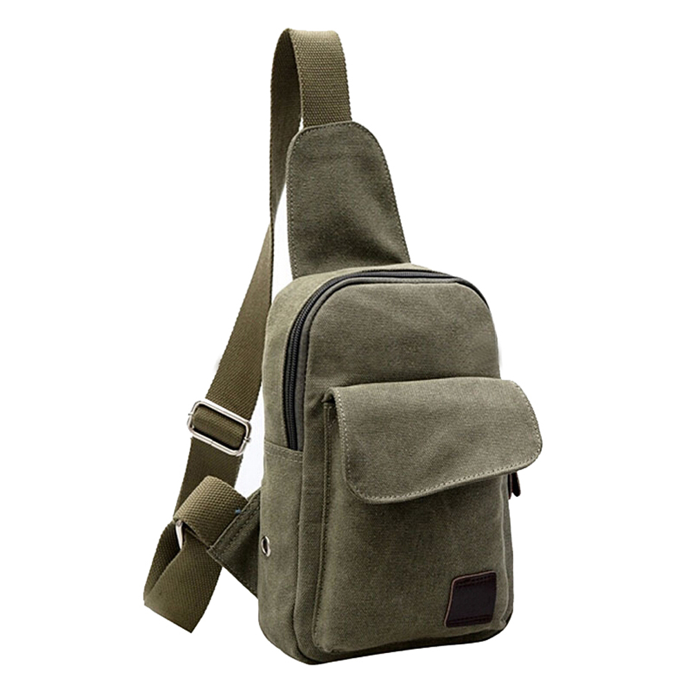 Small Canvas Vintage Shoulder Crossbody Bicycle Bag Messager Bags-Army Green