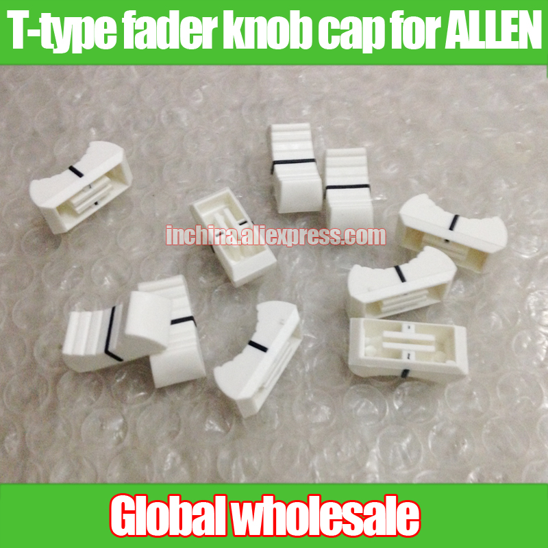 W11mm L24mm Hole Length 19mm Punctual Timing 5pcs New White Pearl Console Mixer T-type Potentiometer Fader Knob Cap For Allen H10mm