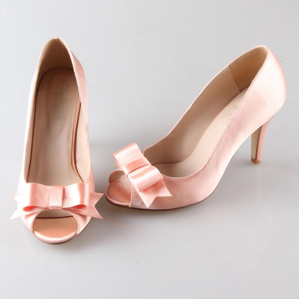 Creativesugar Handmade watercolor peach nude blush bow bowknot open ...