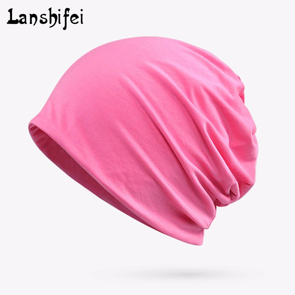 Womens Solid Nightcap Confinement Cap Pregnant Hat Purified Cotton Modal Scarf and Headgear Dual-purpose cap for spring autumn