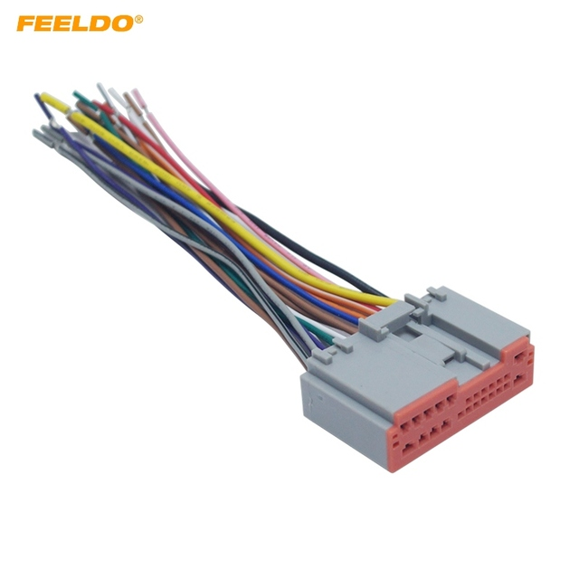 FEELDO Car Radio Player Wiring Harness Audio Stereo Wire Adapter for