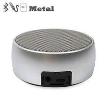 Metal Bluetooth Speaker Ao Ar Livre Rodada Caixa de Esporte Super Bass Music Player MP3 com As Mãos Chamada Gratuita Mini Cartão Do Tf falante