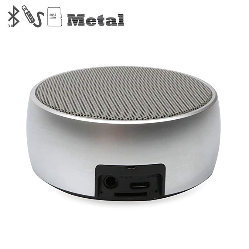 Metal Bluetooth Speaker Outdoor Round Sport Super Bass Music Player MP3 Box with Hands Free Call Support TF Card Mini Speaker-in Portable Speakers from Consumer Electronics