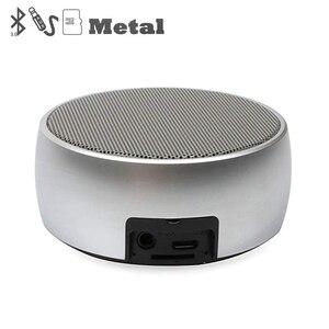 Image 1 - Metall Bluetooth Lautsprecher Im Freien Runde Sport Super Bass Musik Player MP3 Box mit Hände Geben Anruf Unterstützung TF Karte Mini lautsprecher