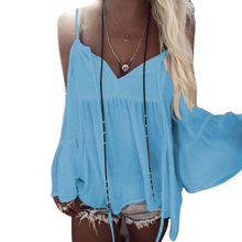 Women Tank Top Summer Fashion Sexy Concise Solid Color All-match Batwing Sleeve V-collar Camisole
