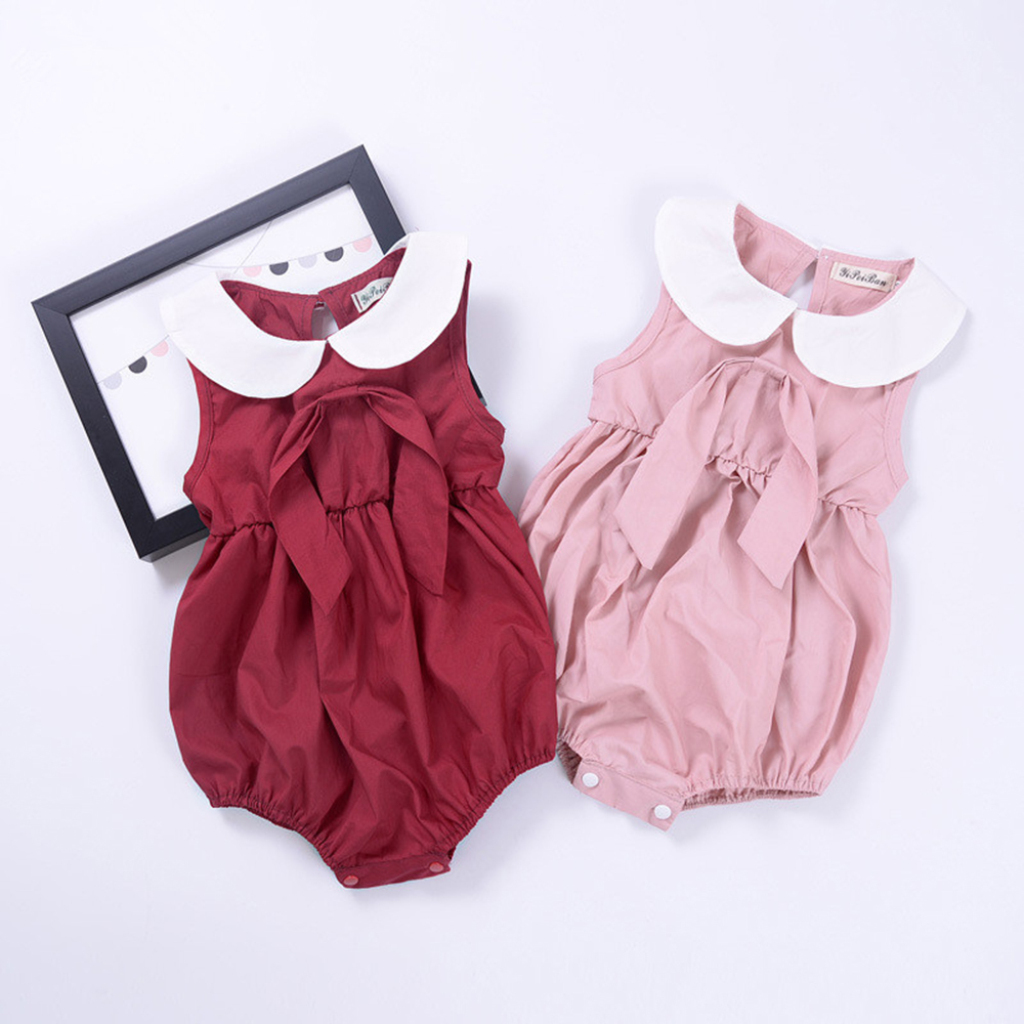 Bodysuits & One-pieces Sunny Newborn Baby Girl Clothes Lace Sleeveless Rompers 2019 New Hot Summer Cute Babe Kids Babysuit Bowknot Jumpsuit Beach Clothes