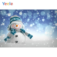 Yeele Christmas Party Photocall Bokeh Light Snowman Photography Backdrops Personalized Photographic Backgrounds For Photo Studio