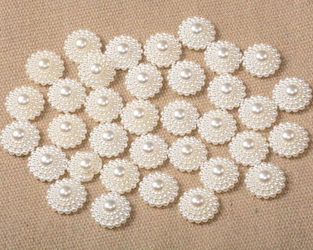 12 мм 20 штук белый Цвета искусственный жемчуг полукруглый плоский