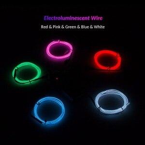 1 м 3 м 5 м неоновый свет для танцевальной вечеринки декор световая гирлянда неоновая светодиодная лампа Гибкая EL провод веревка трубка Водонепроницаемая светодиодная лента с контроллером