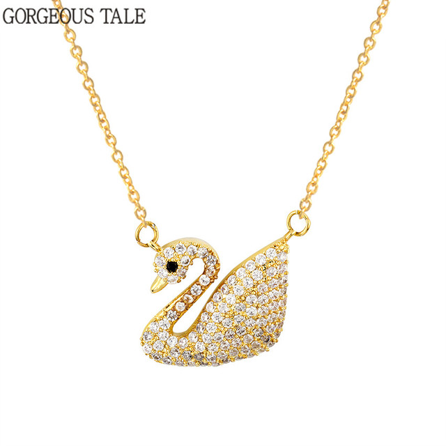 Delicate swan statement necklace cute rose gold bird pendant delicate swan statement necklace cute rose gold bird pendant chains necklaces drop shipping women jewelry mozeypictures Gallery