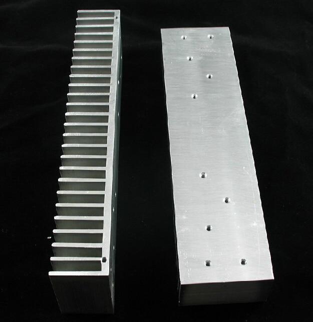 2pcs Full Aluminum E Heatsink For L12-2 Power Amplifier Board LJM