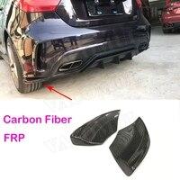 A Class Carbon Fiber Rear Bumper Lip Splitters Spoiler for Mercedes W176 A180 A200 A250 AMG A45 2013 2016 Lip Trim Canard Aprons