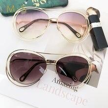 ba351f17f2585 2018 Mulheres de Luxo Decoração Óculos Clássico Óculos Feminino óculos de Sol  Originais Da Marca do Desenhador Óculos de Sol Da .