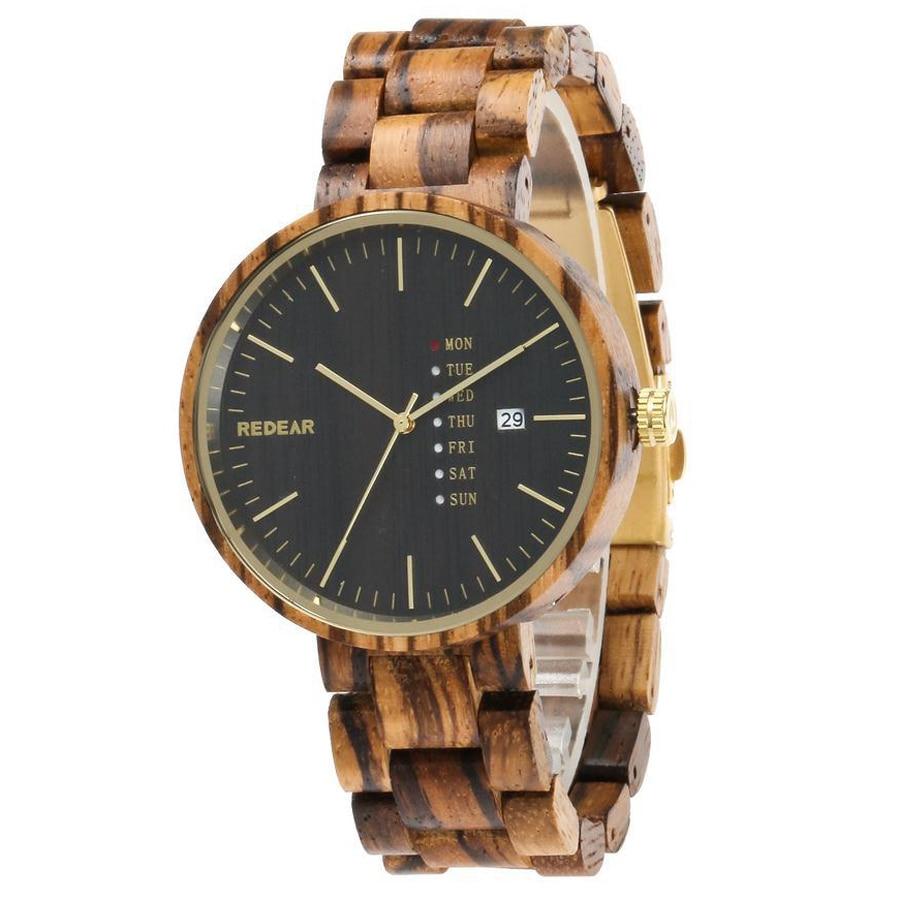 Montres en bois pour hommes montres de marque de luxe montre-bracelet à Quartz Unique montre-bracelet en bois de bambou étanche pour hommes