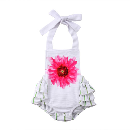 Baby Girls Infant Flowers Bodysuit