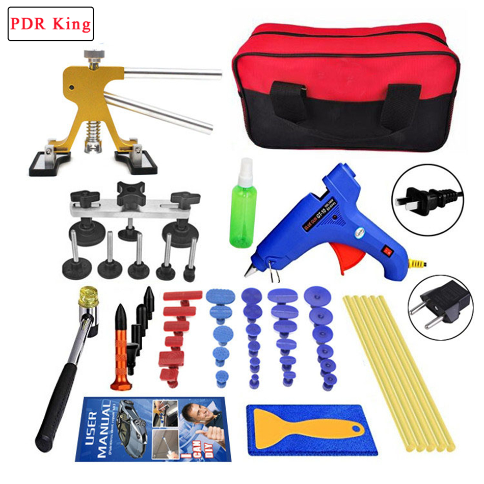 PDR Tools Paintless Car Dent Repair Tool Dent Removal Dent Puller Tabs Dent Lifter PDR Tool Kit ToolKit Hand Tool Set glue gun pdr tool kit for pop a dent 57pcs car repair kit pdr tools pdr line board dent lifter set glue stricks pro pulling tabs kit