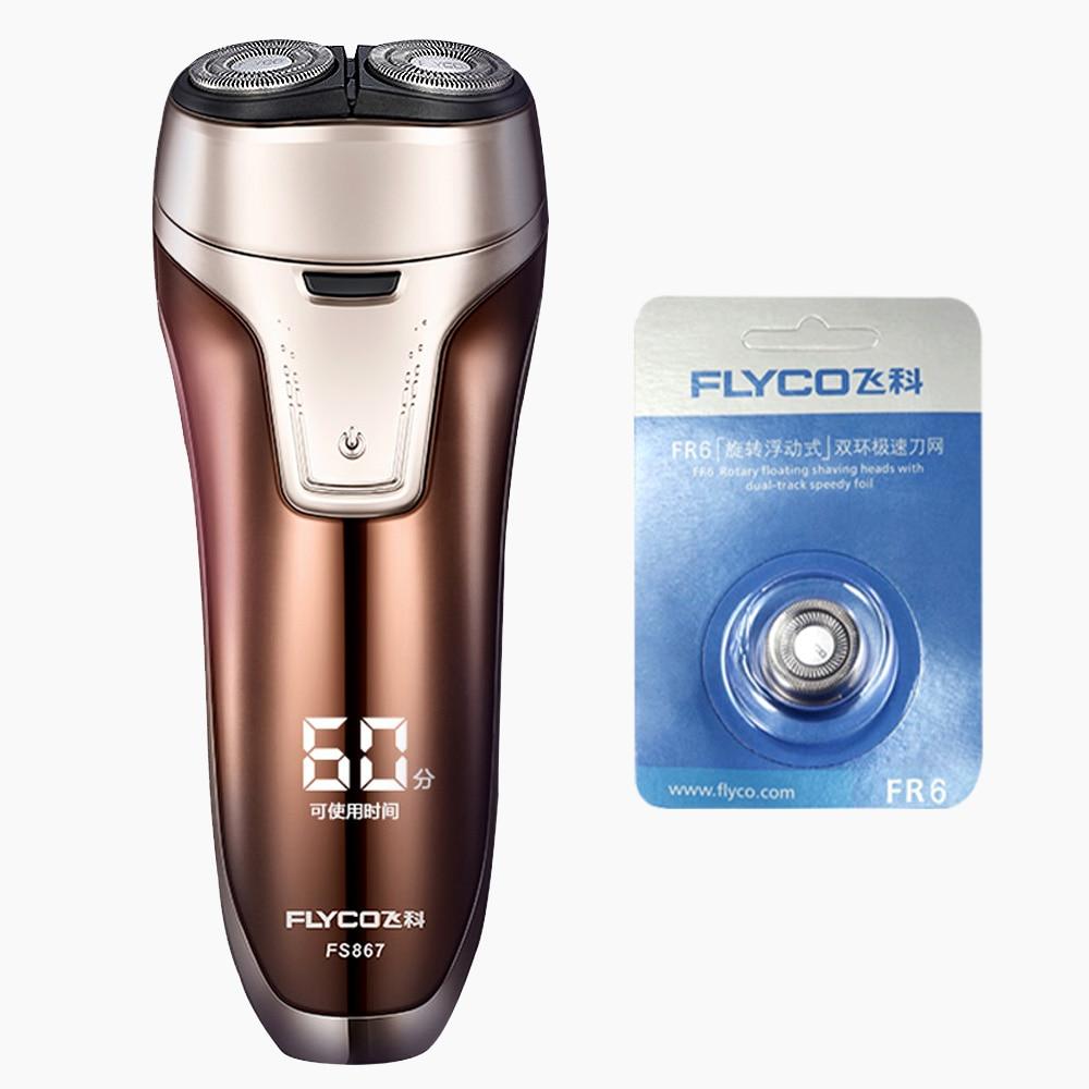 Flyco Mens Electric Shaver Cera Depilatoria Rasoir Electrique Mens Razor Golarka Do Brody FS867-C FR6 Cutter Head цена