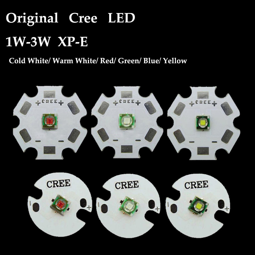Original Cree Xlamp Xpe Xp E 1w 3w Red Green Blue Royal