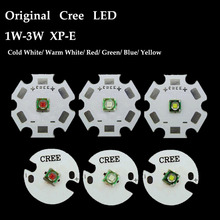 Original Cree XLamp XPE XP-E 1W-3W Red Green Blue Royal Blue Yellow Cool White Warm White LED light With 20mm/16mm base 5x 3w cree xpe xp e high power led emitter diode neutral white cool white warm white red green blue royal blue yellow with pcb