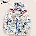 Baby Girl Trench Coat Cute Dinosaur Autumn  Kids Jacket girls Outerwear Coats Active Boy Windbreaker Cartoon Sport For Kids G5