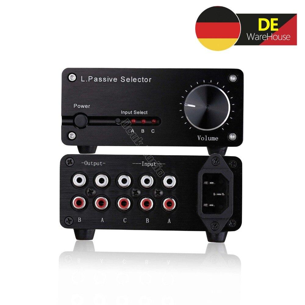 Nosound Mini Stereo L/R RCA Single-Ended Passivo Pre-Amplificatore Preamplificatore Audio 3-IN-2-OUT Con Regolatore di Volume