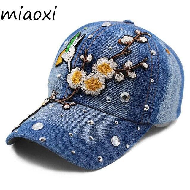 71bbbd59018 miaoxi High Quality Brand Adult Women Baseball Cap Caps Fashion Floral Bird Summer  Snapback Girl Casual Bonnet Hats Beauty Hat
