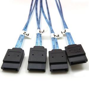 Image 4 - Mini sas Yüksek Yoğunluklu SFF 8644 to 4SATA7P 12GB sunucu harici sabit disk kablosu