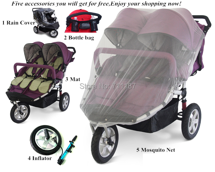 Lightweight Twin Baby StrollerFolding Double PushchairTwin Tandem Buggy In Three Wheels Stroller From Mother Kids On Aliexpress