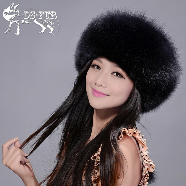 Granceful fur hat for women made of real fox fur leather solid winter hats warm beanies 2016 fashion madam luxury fox fur hat