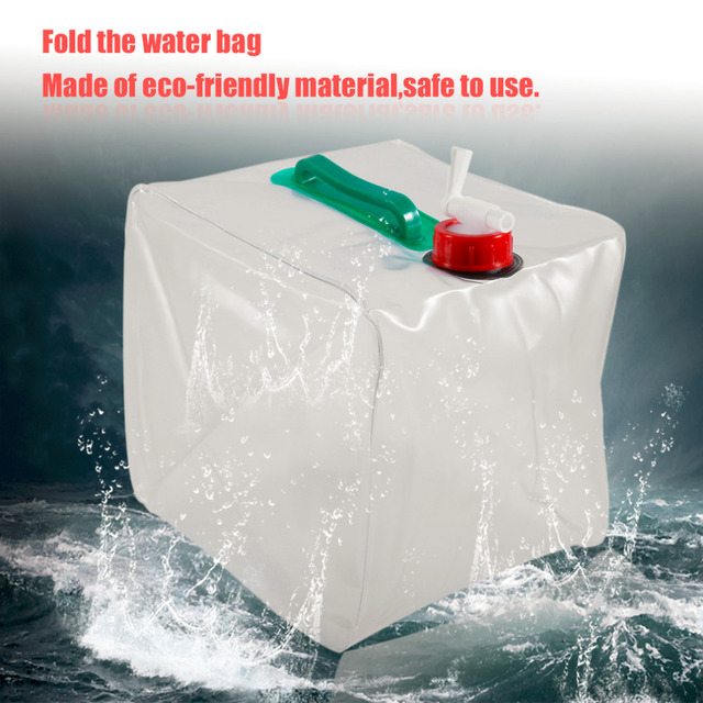 10L ECO LDPE Folding Water Storage Bag Outdoors Camping Survival