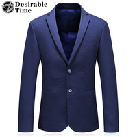 Desirable Time Slim Fit Blue Blazer Men 2018 Spring New Arrivals Classic Business Mens Casual Blazers