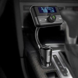 Image 3 - BT75S nadajnik FM Bluetooth tak/nie sterowanie głosem zestaw głośnomówiący zestaw samochodowy z MP3 odtwarzacz podwójna ładowarka samochodowa USB szybkie ładowanie 3.0 ładowarka samochodowa