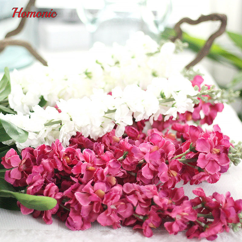 90cm Delphinium silk flower artificial Europe Style wedding hyacinth ...