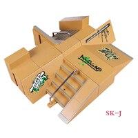 SK J 8+3 Multi style Combination Finger Skateboard Park Ramp Fingerboard Parts for Tech Deck Finger Board Stage Property