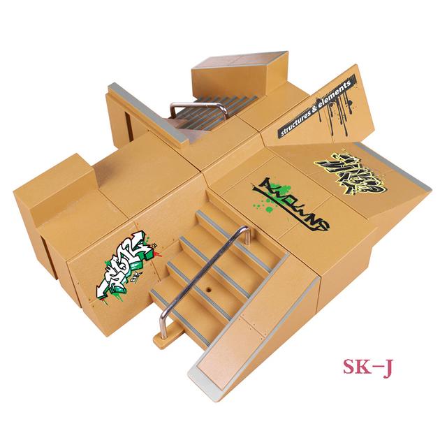SK-J 8 Unids Multi-estilo Combinación Dedo Skate Park Rampa y Partes Diapasón de Tech Deck y Tablero Del Dedo Propiedad Stage