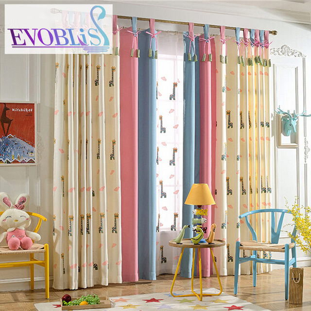 Giraffe embroidered curtains for children cortinas infantiles ...
