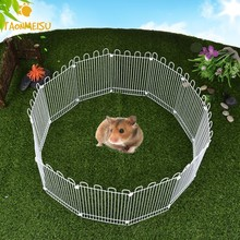 8/12Pcs Hamster Fence Iron Cage Multifunctional Small Pet 2Size