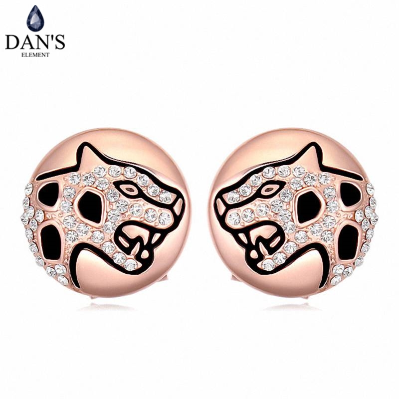 DANS Colors Real Austrian crystals Stud earrings for women Earrings s New Sale Hot Round 120630