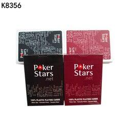 2 jogos/lote Texas Hold'em cartões de jogo de poker do cartão de jogo Plástico À Prova D' Água e maçante polonês estrela do poker jogos de Tabuleiro K8356