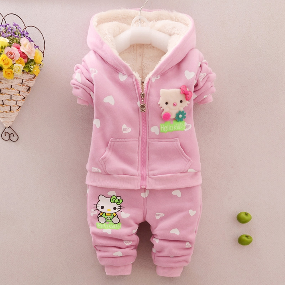 df5f21c88 Baby Girls Clothing Sets Winter Clothes Warm Fleece Snow Outfits ...
