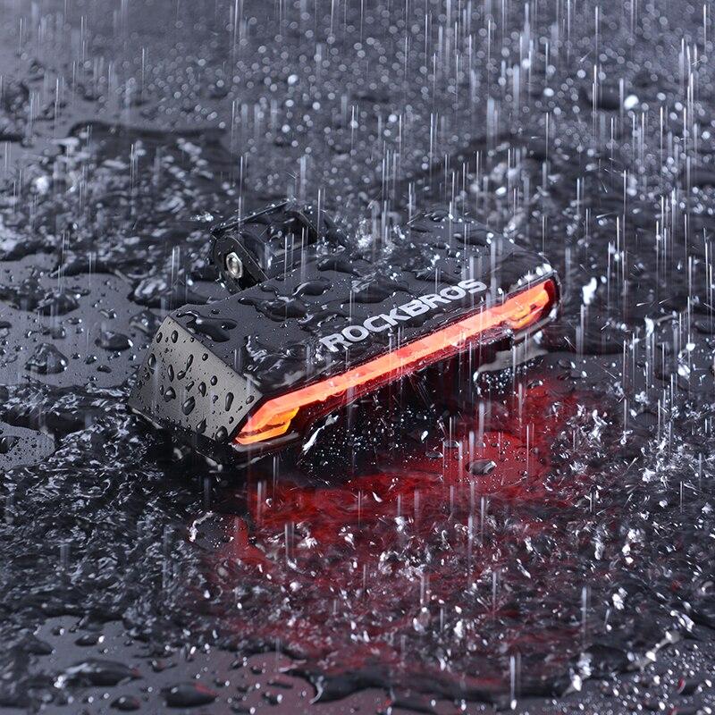 ROCKBROS éclairage vélo USB Rechargeable feu arrière led Avertissement Feux Arrière Vélo Intelligent Sans Fil télécommande Clignotants - 4