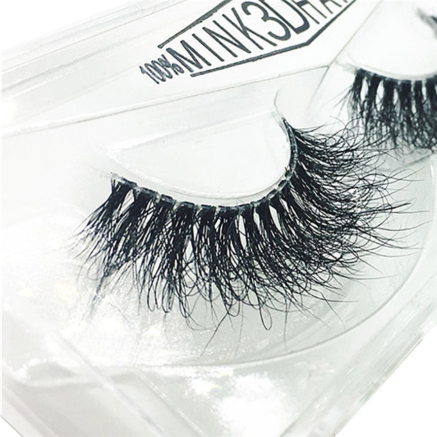 2018 New 3D False Eyelashes Artificial Fur Eyelashes Long Natural Thick Eye Makeup Drop Shipping 80309 Mar29
