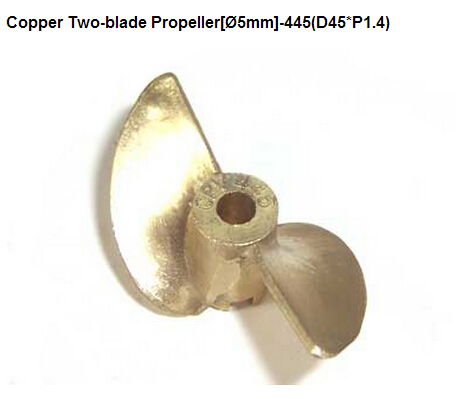 66445C RC Gas Petrol Boat Copper 2 Blade Propeller 5mm 445 D45 P1 4